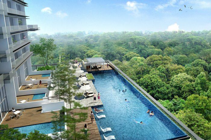 Spottiswoode communal pool view